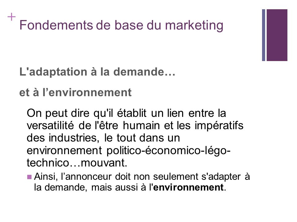 Fondements de base du marketing