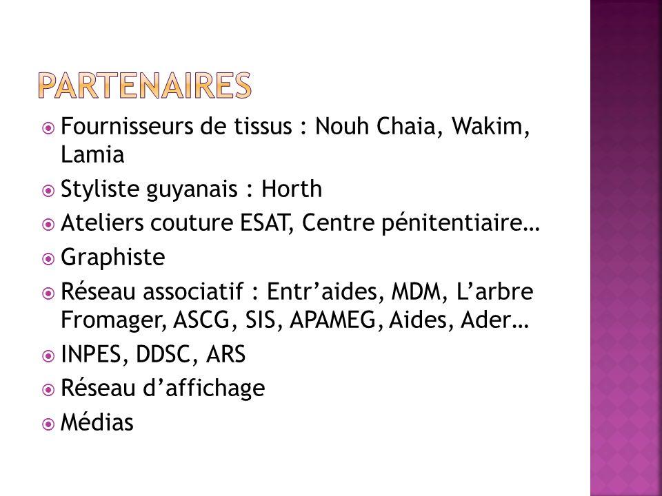 Partenaires Fournisseurs de tissus : Nouh Chaia, Wakim, Lamia