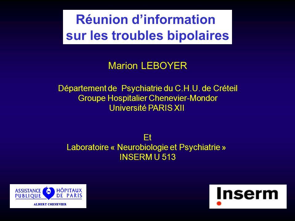 Réunion d'information sur les troubles bipolaires