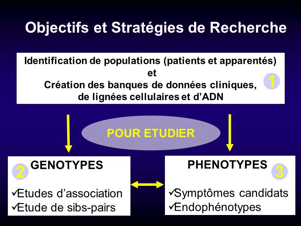 1 2 3 Objectifs et Stratégies de Recherche POUR ETUDIER GENOTYPES