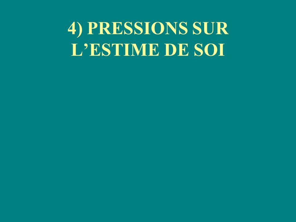 4) PRESSIONS SUR L'ESTIME DE SOI