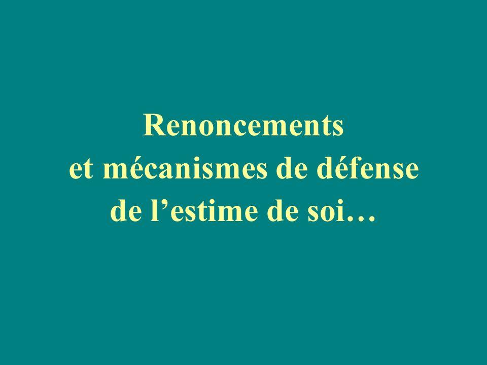 et mécanismes de défense