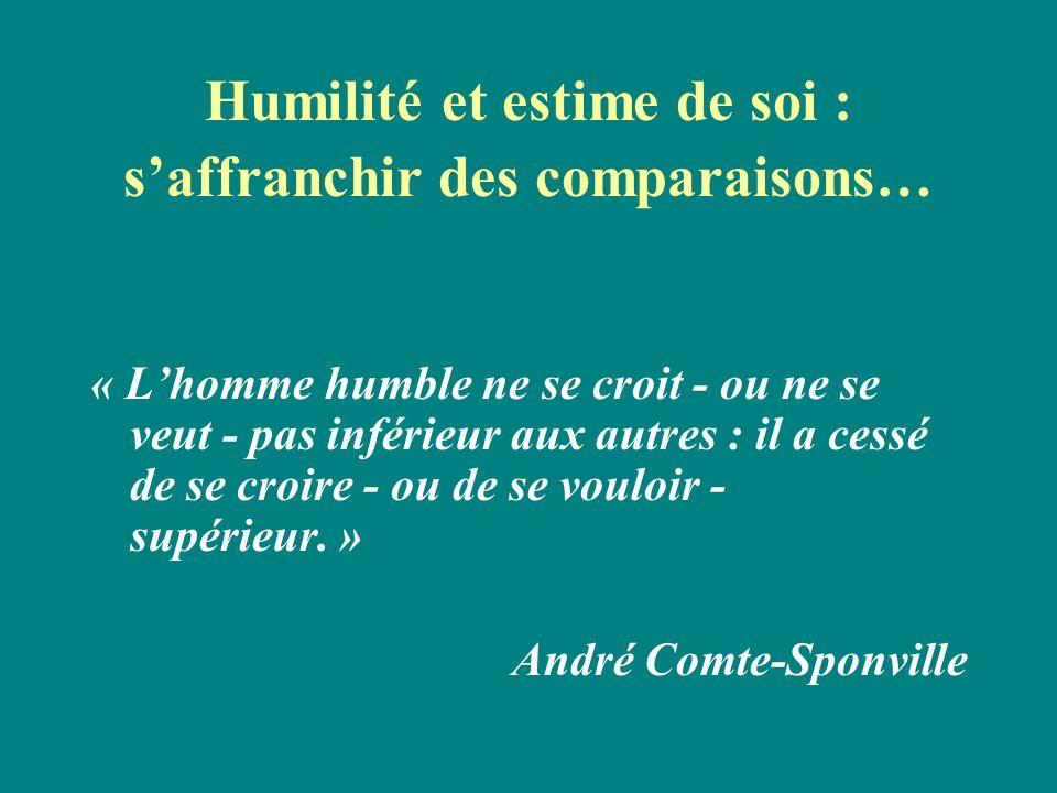 Humilité et estime de soi : s'affranchir des comparaisons…