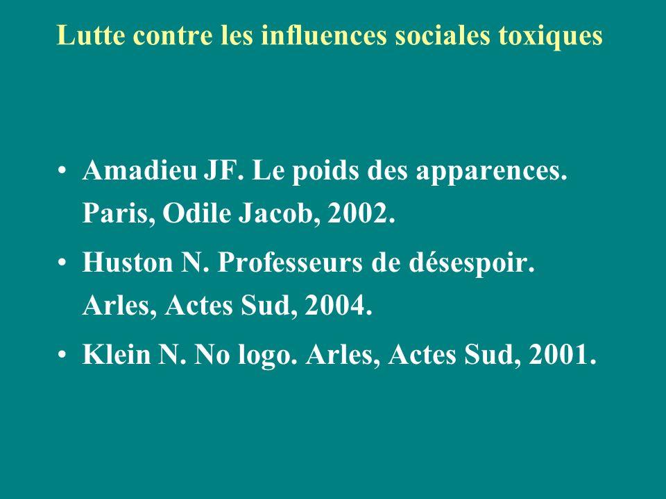 Lutte contre les influences sociales toxiques