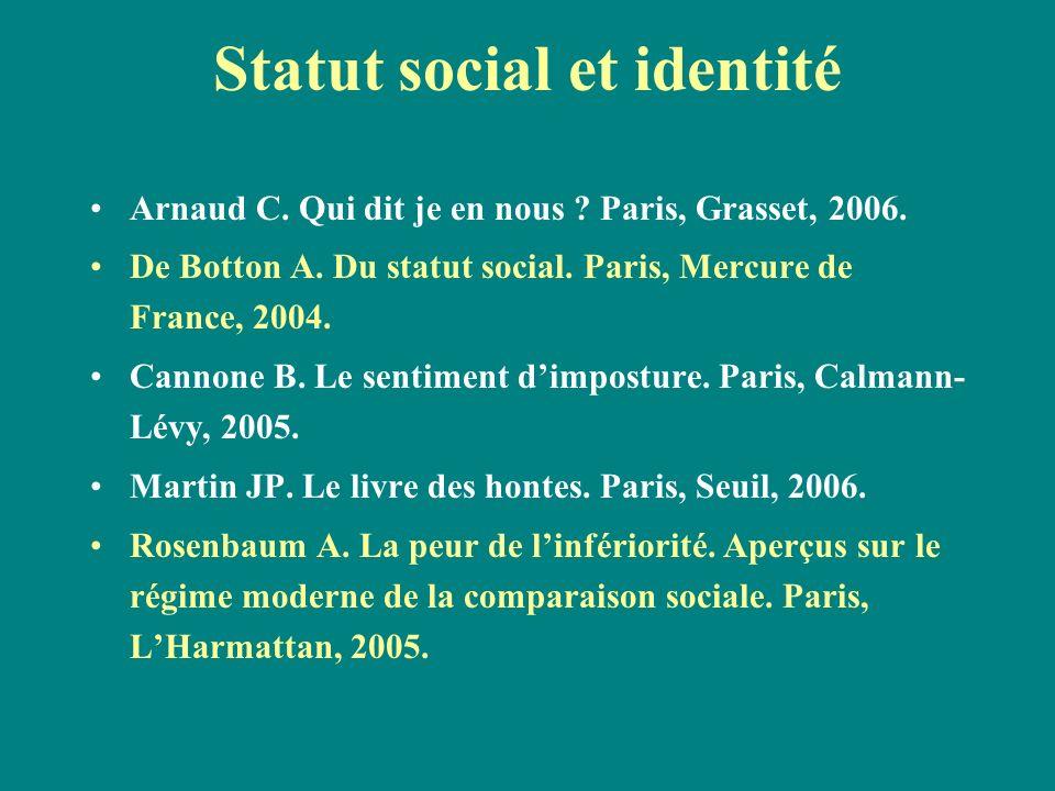 Statut social et identité