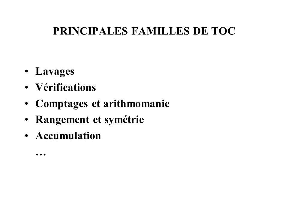 PRINCIPALES FAMILLES DE TOC
