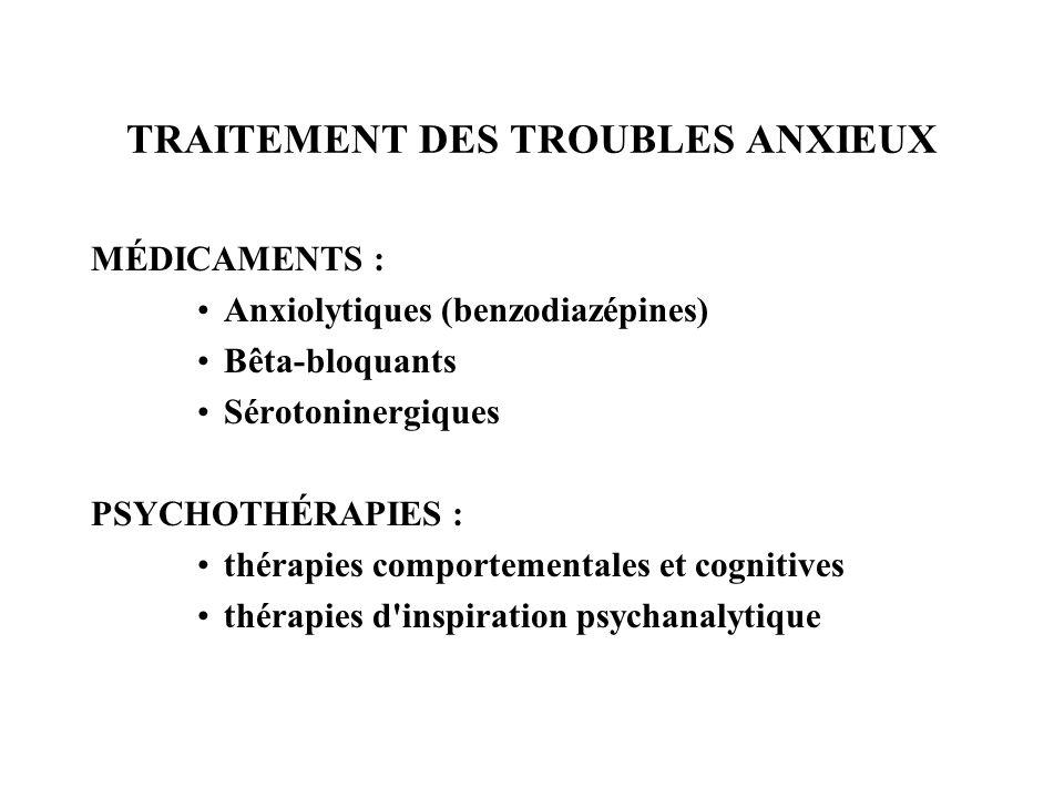 TRAITEMENT DES TROUBLES ANXIEUX