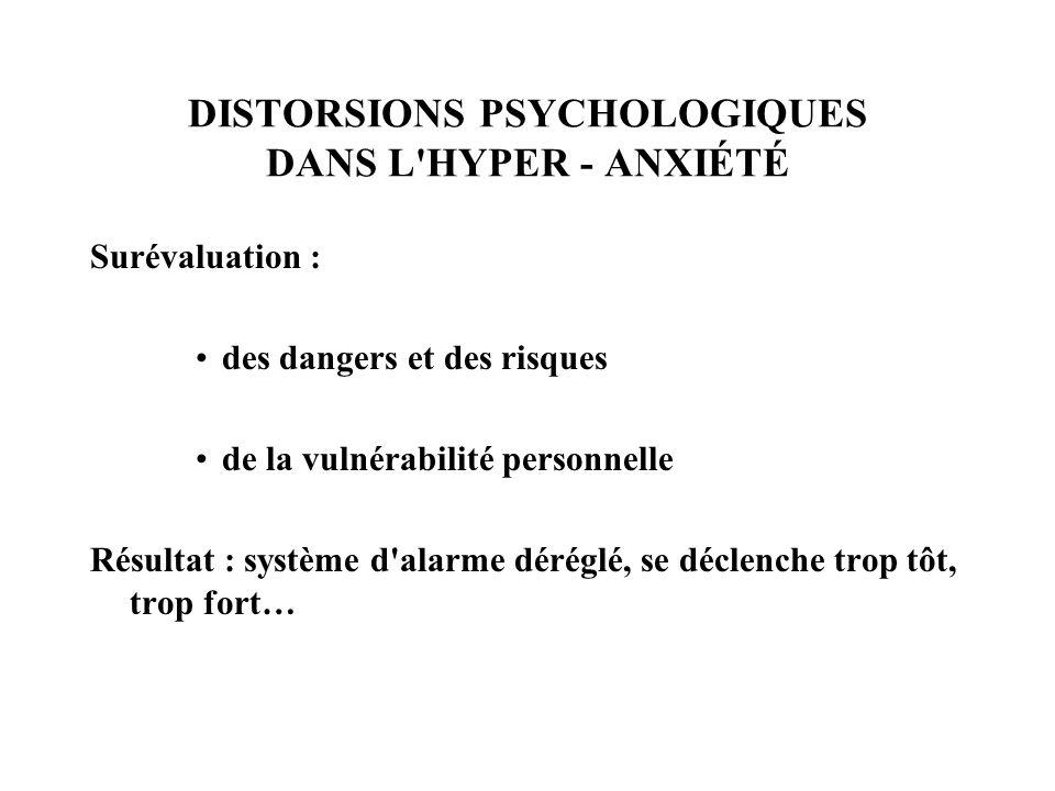 DISTORSIONS PSYCHOLOGIQUES DANS L HYPER - ANXIÉTÉ