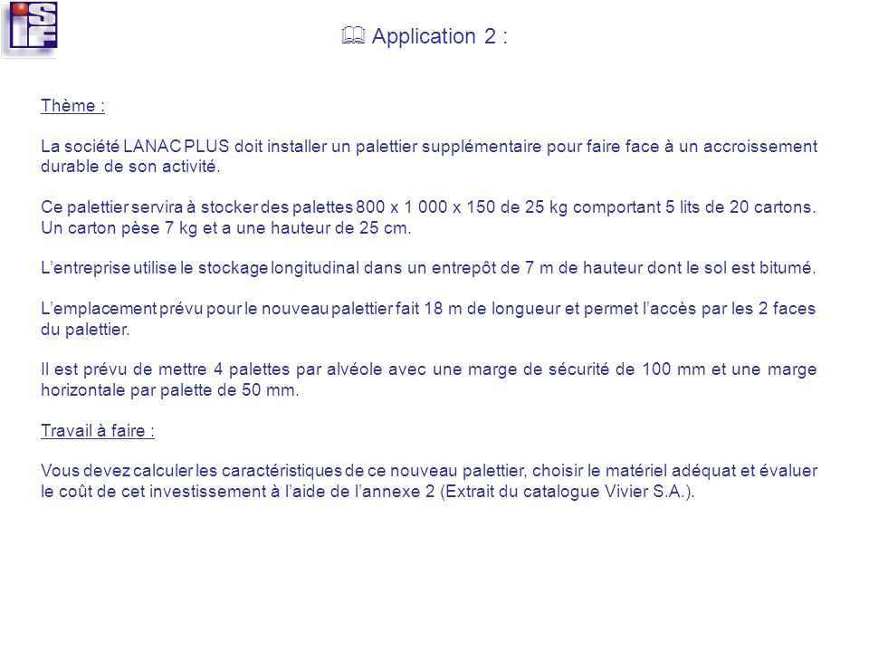  Application 2 : Thème :