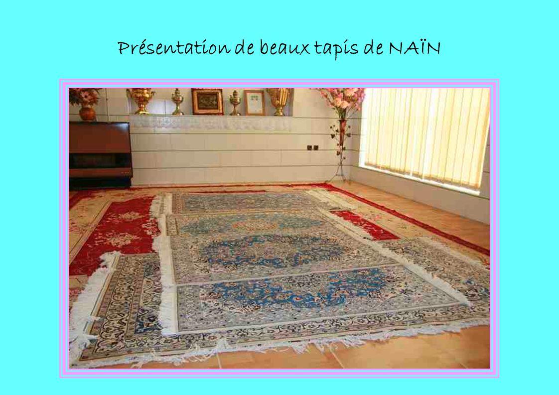 Présentation de beaux tapis de NAÏN