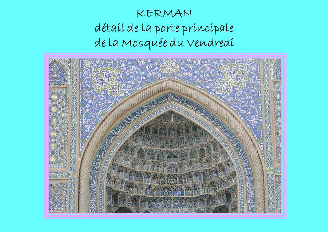 KERMAN détail de la porte principale de la Mosquée du Vendredi