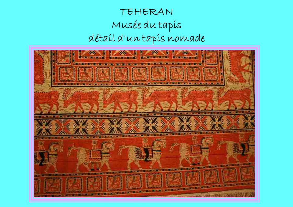 TEHERAN Musée du tapis détail d un tapis nomade