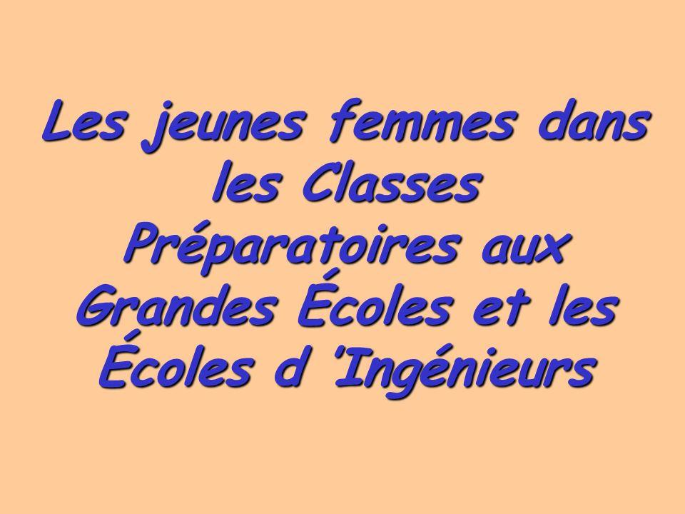 Les jeunes femmes dans les Classes Préparatoires aux Grandes Écoles et les Écoles d 'Ingénieurs