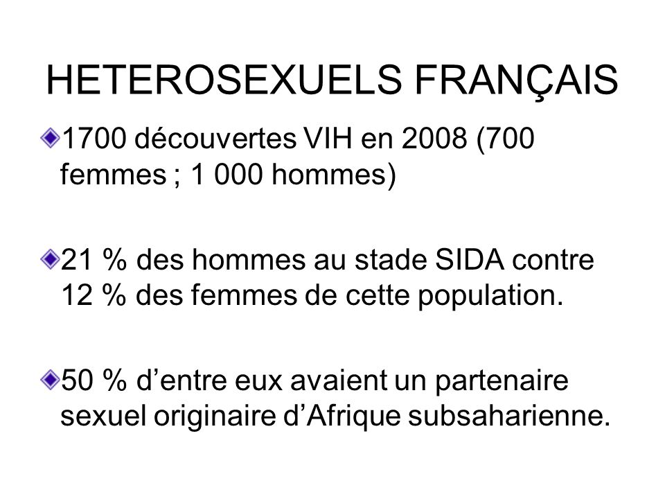 HETEROSEXUELS FRANÇAIS