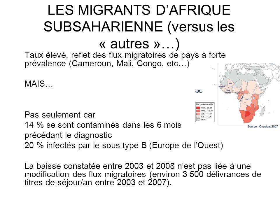 LES MIGRANTS D'AFRIQUE SUBSAHARIENNE (versus les « autres »…)