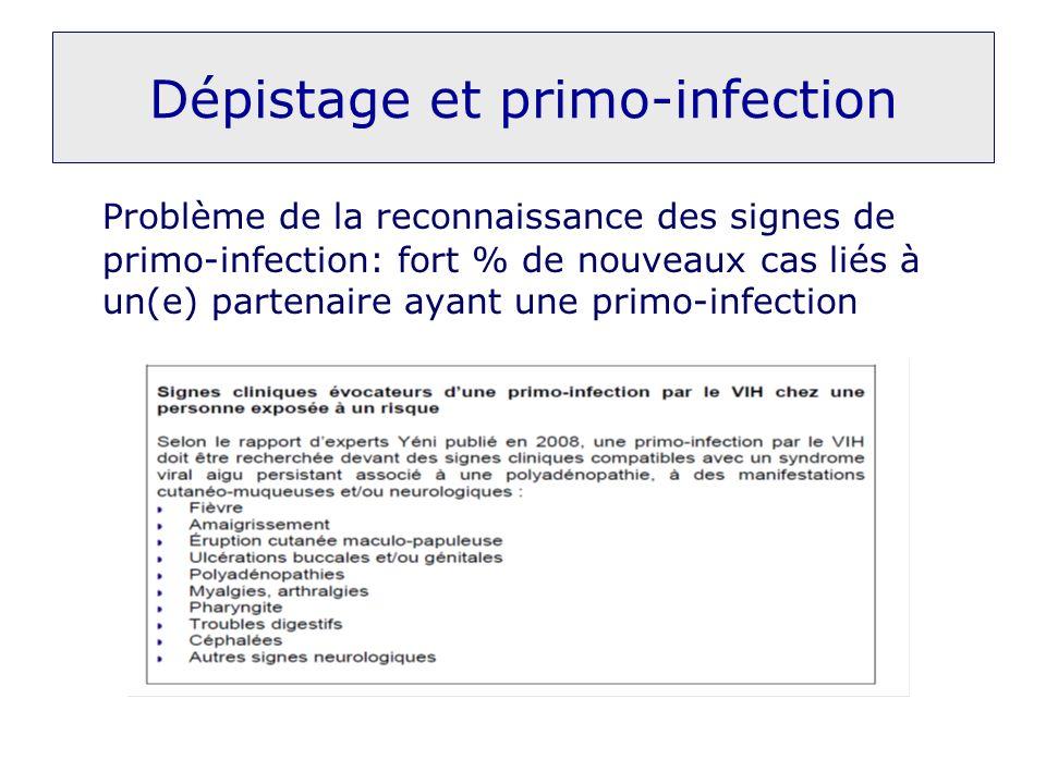 Dépistage et primo-infection
