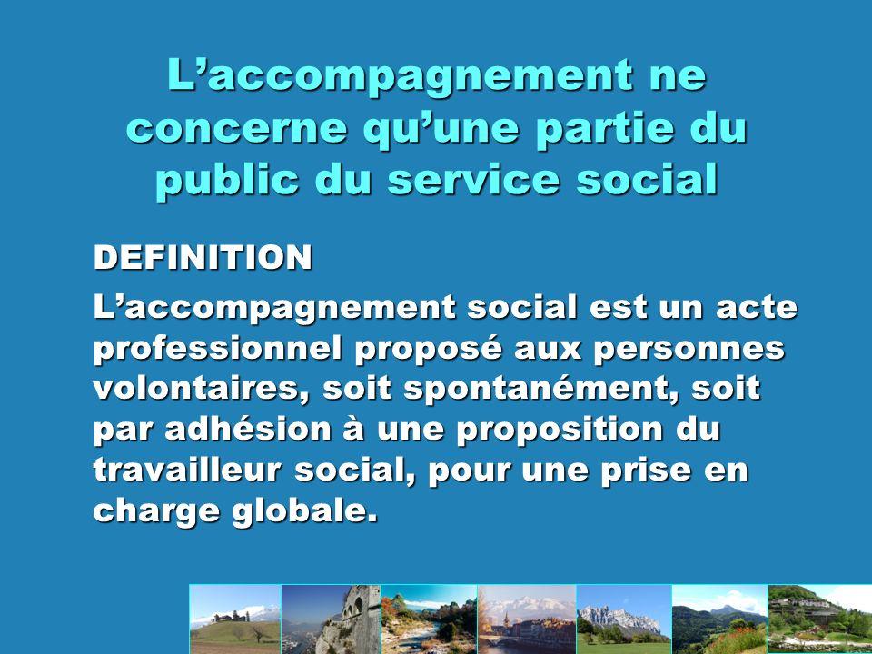 L'accompagnement ne concerne qu'une partie du public du service social