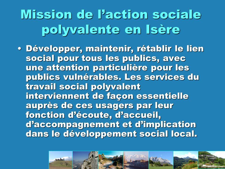 Mission de l'action sociale polyvalente en Isère