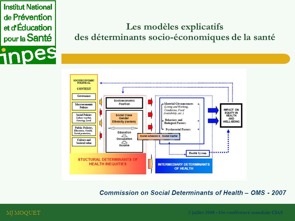 Les modèles explicatifs des déterminants socio-économiques de la santé