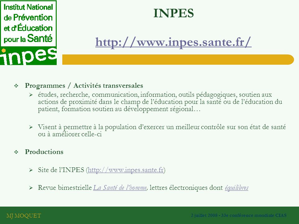 INPES http://www.inpes.sante.fr/