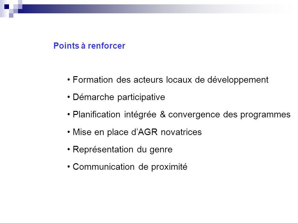 Formation des acteurs locaux de développement Démarche participative