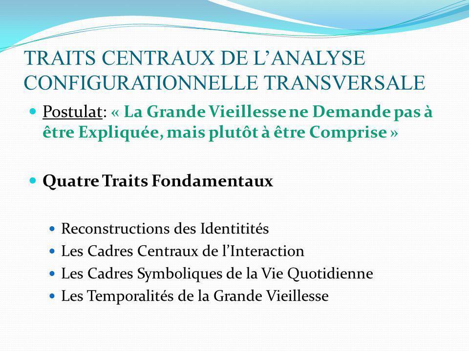 TRAITS CENTRAUX DE L'ANALYSE CONFIGURATIONNELLE TRANSVERSALE