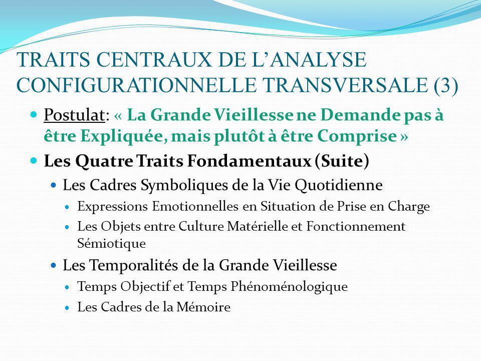 TRAITS CENTRAUX DE L'ANALYSE CONFIGURATIONNELLE TRANSVERSALE (3)