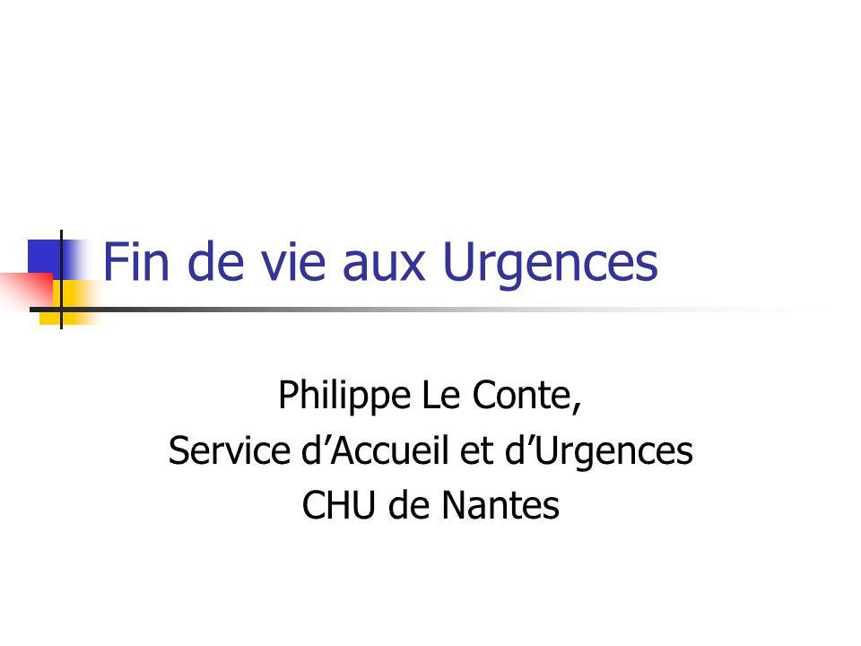 Philippe Le Conte, Service d'Accueil et d'Urgences CHU de Nantes