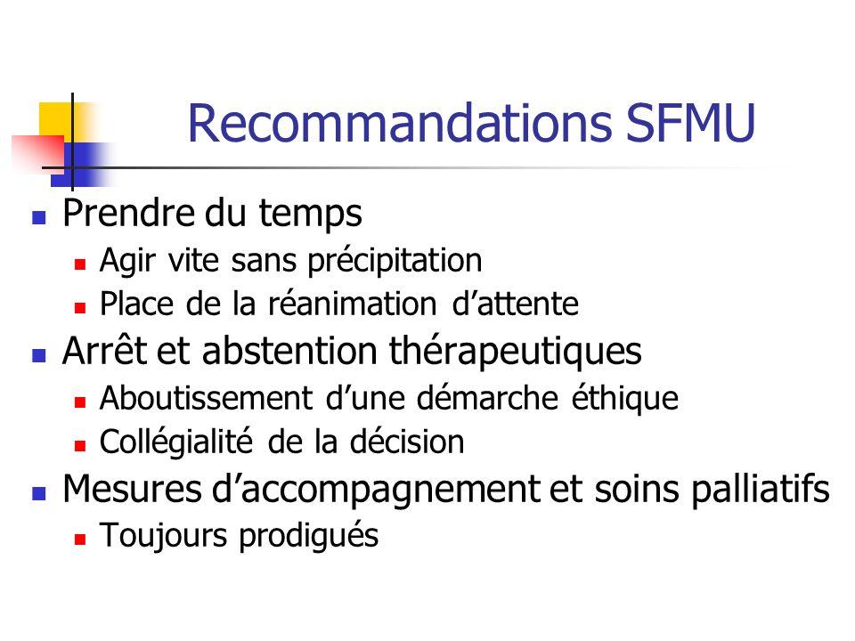 Recommandations SFMU Prendre du temps