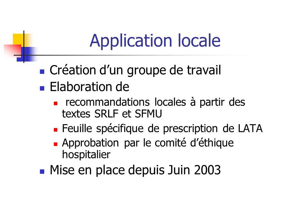 Application locale Création d'un groupe de travail Elaboration de