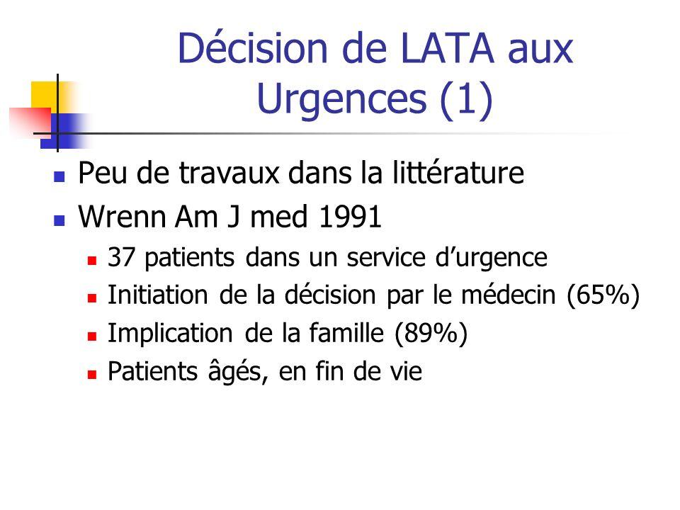Décision de LATA aux Urgences (1)