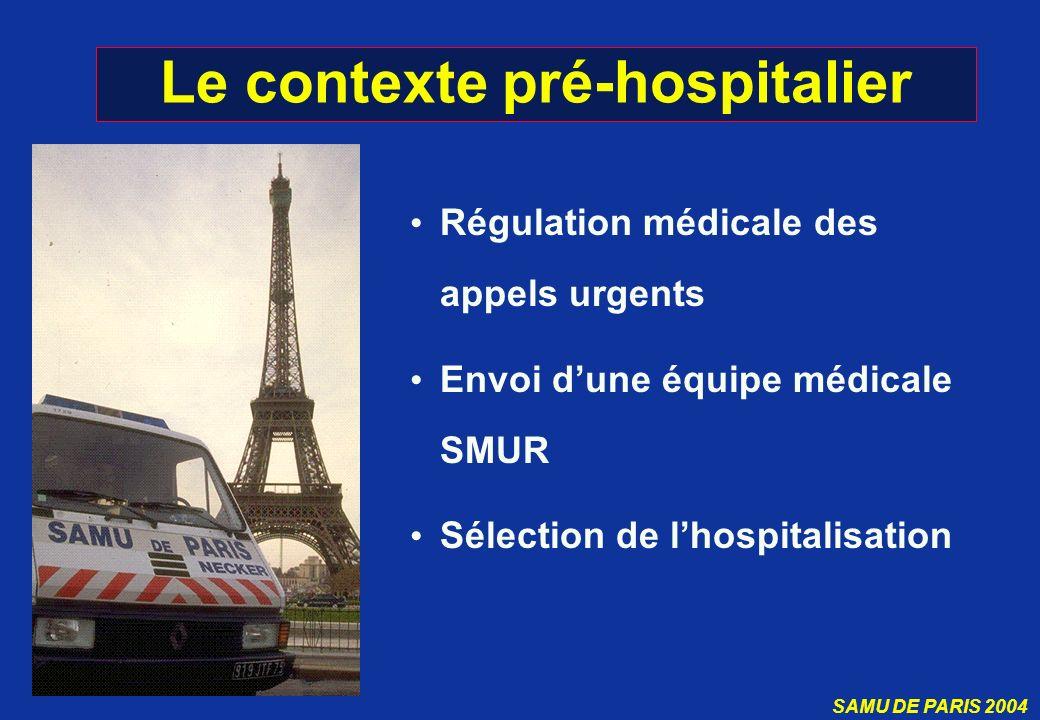 Le contexte pré-hospitalier