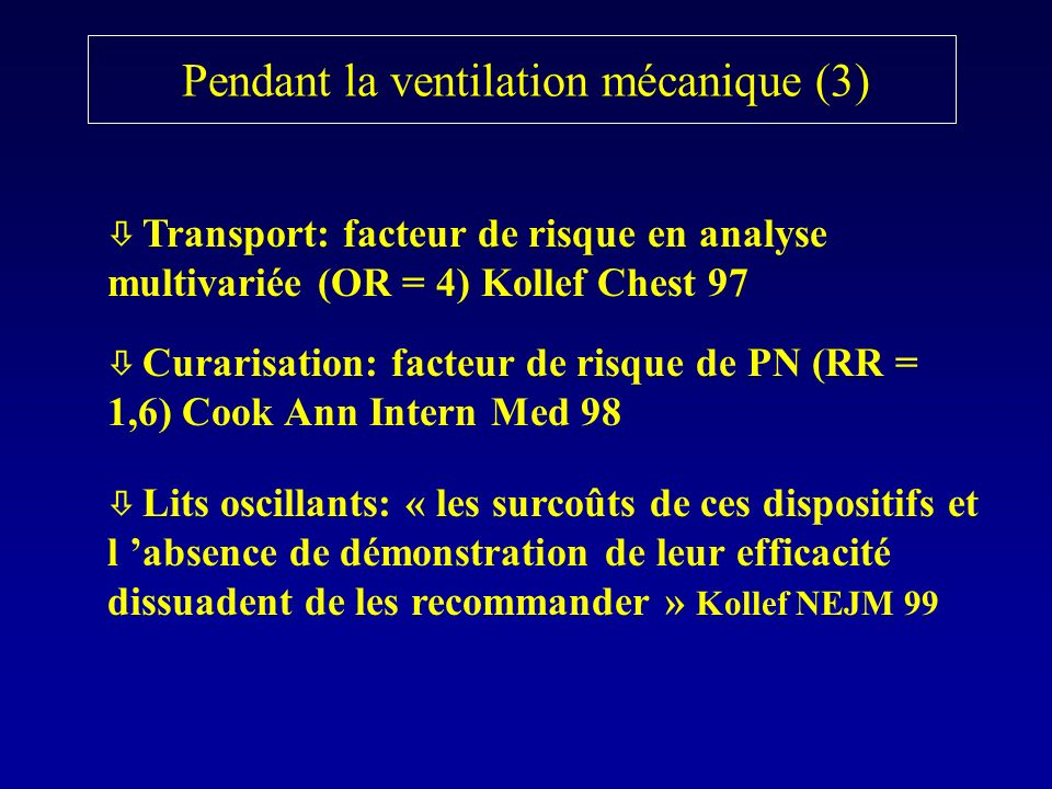 Pendant la ventilation mécanique (3)
