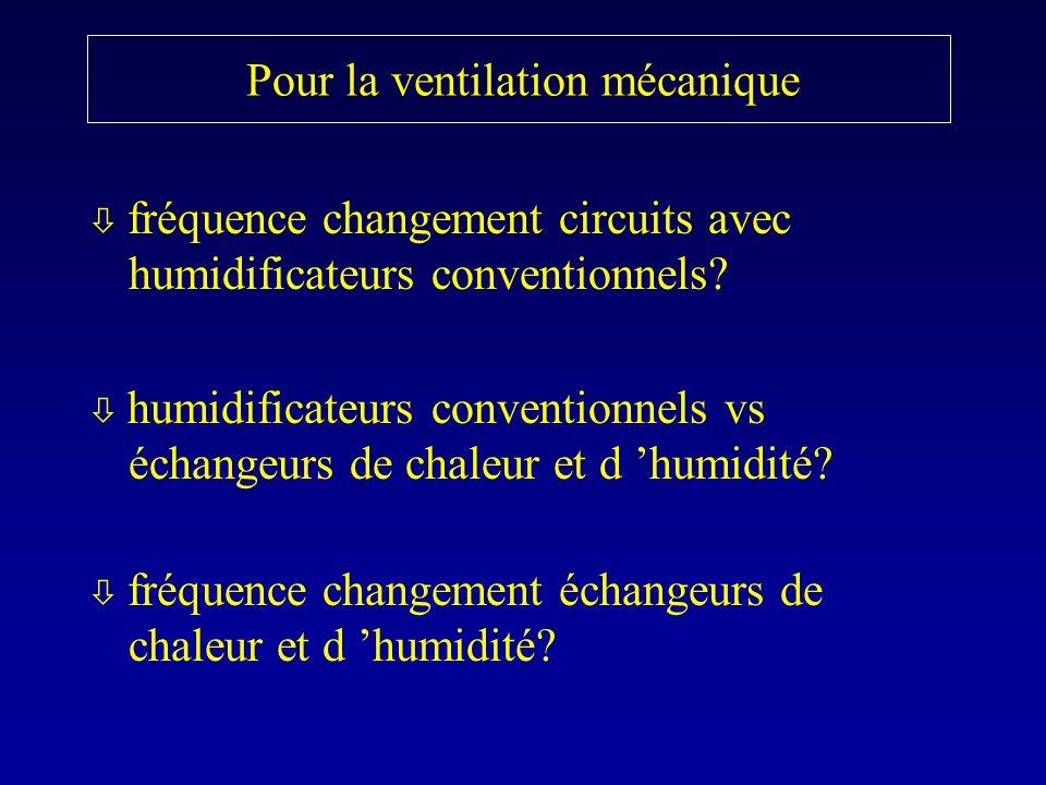 Pour la ventilation mécanique