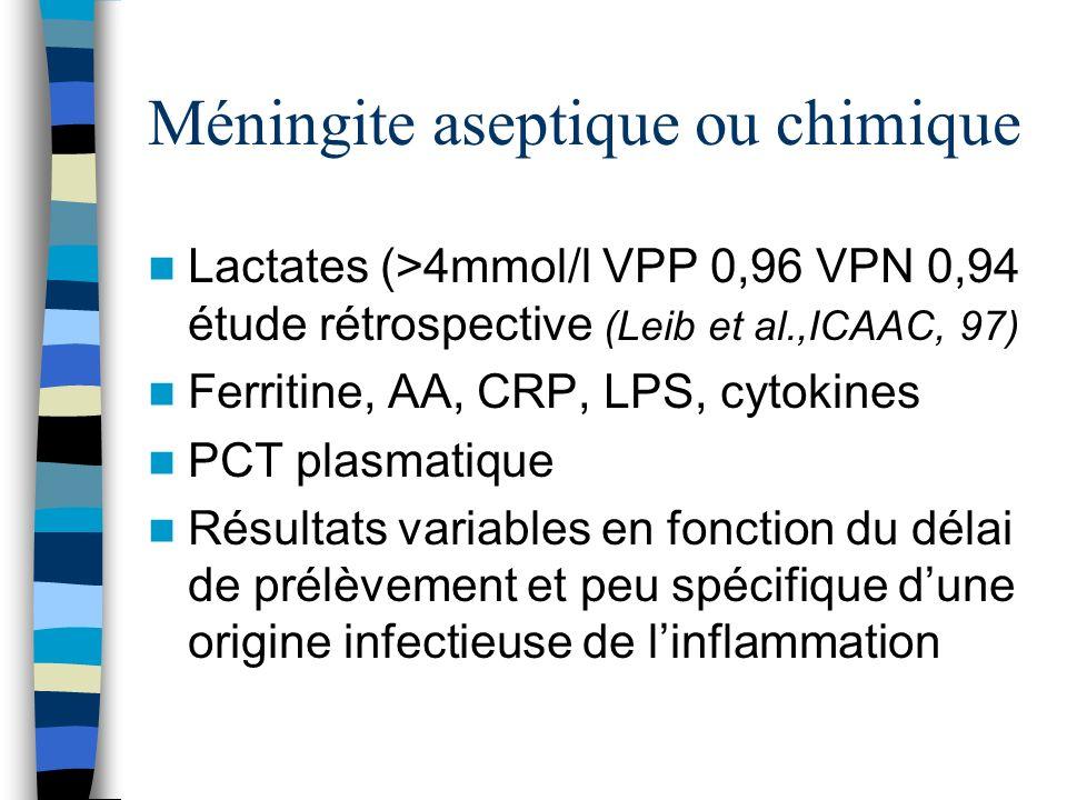Méningite aseptique ou chimique