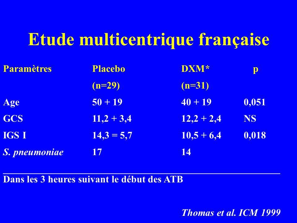 Etude multicentrique française