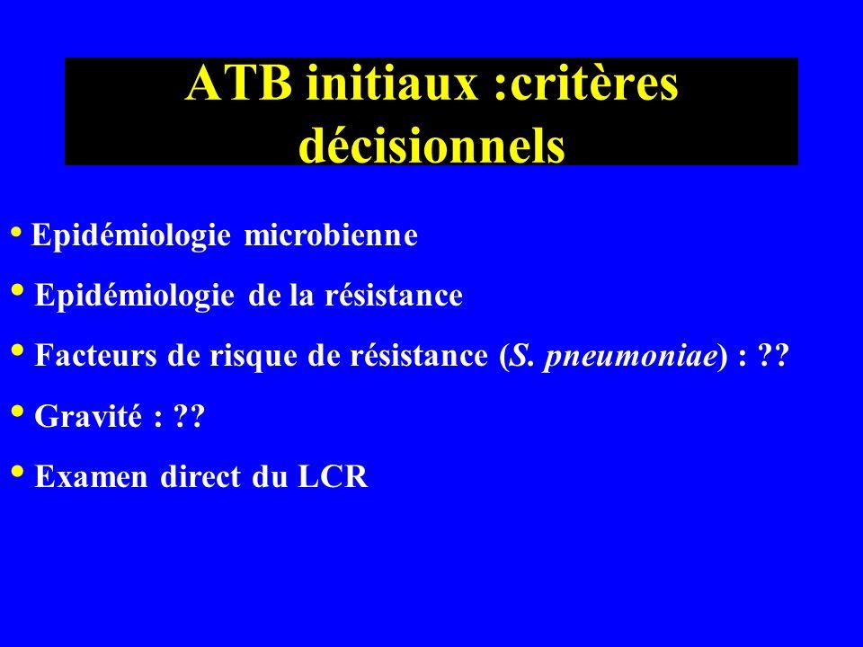 ATB initiaux :critères décisionnels