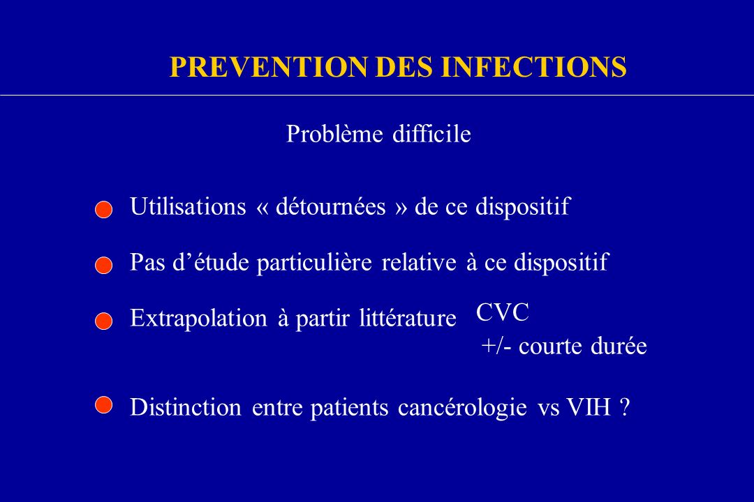 PREVENTION DES INFECTIONS