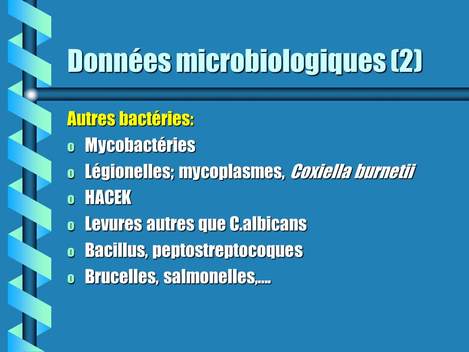 Données microbiologiques (2)