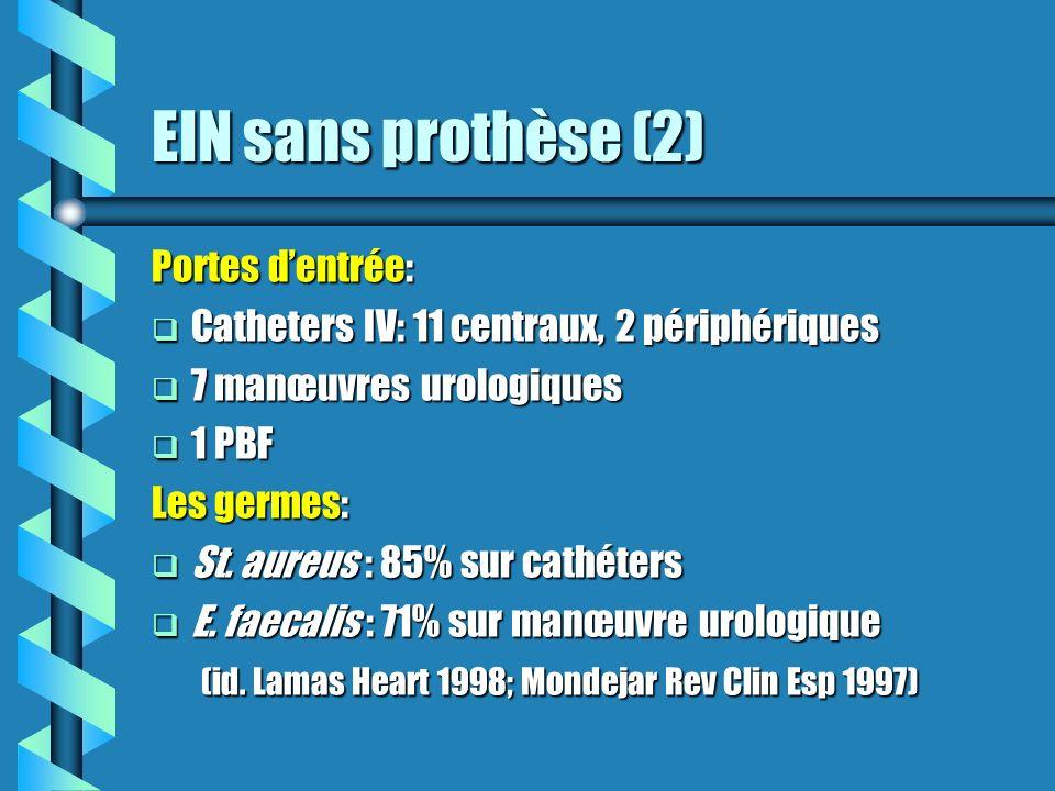 EIN sans prothèse (2) Portes d'entrée: