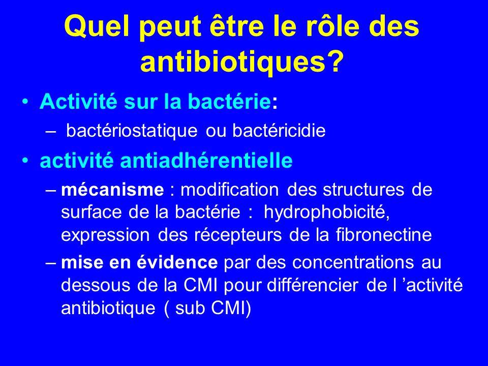 Quel peut être le rôle des antibiotiques