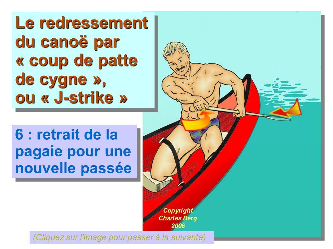 Le redressement du canoë par « coup de patte de cygne »,