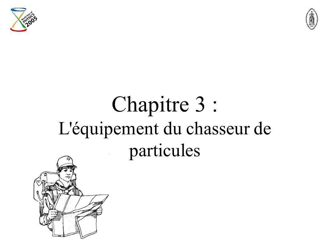 Chapitre 3 : L équipement du chasseur de particules