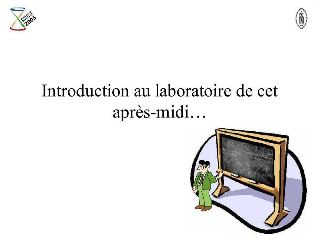 Introduction au laboratoire de cet après-midi…