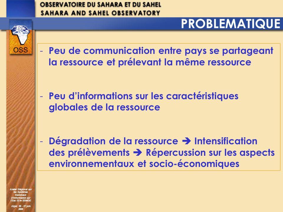 PROBLEMATIQUE Peu de communication entre pays se partageant la ressource et prélevant la même ressource.