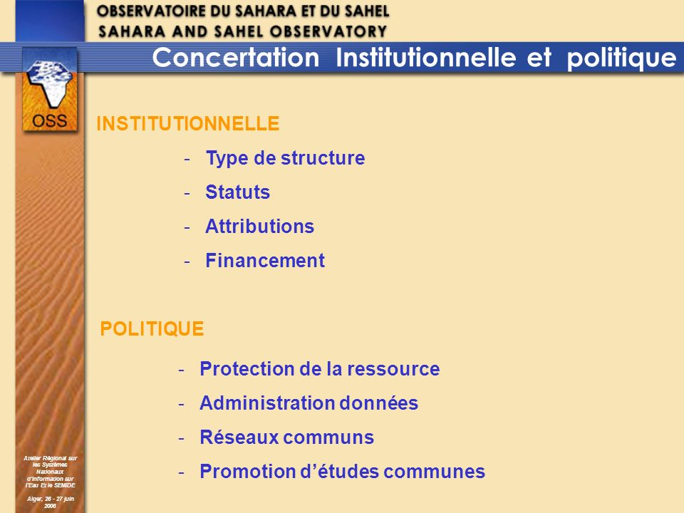 Concertation Institutionnelle et politique