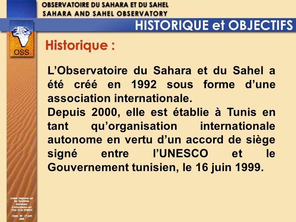 HISTORIQUE et OBJECTIFS Historique :