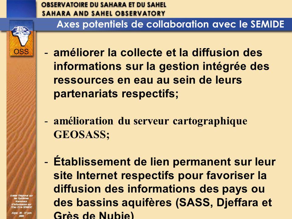 amélioration du serveur cartographique GEOSASS;