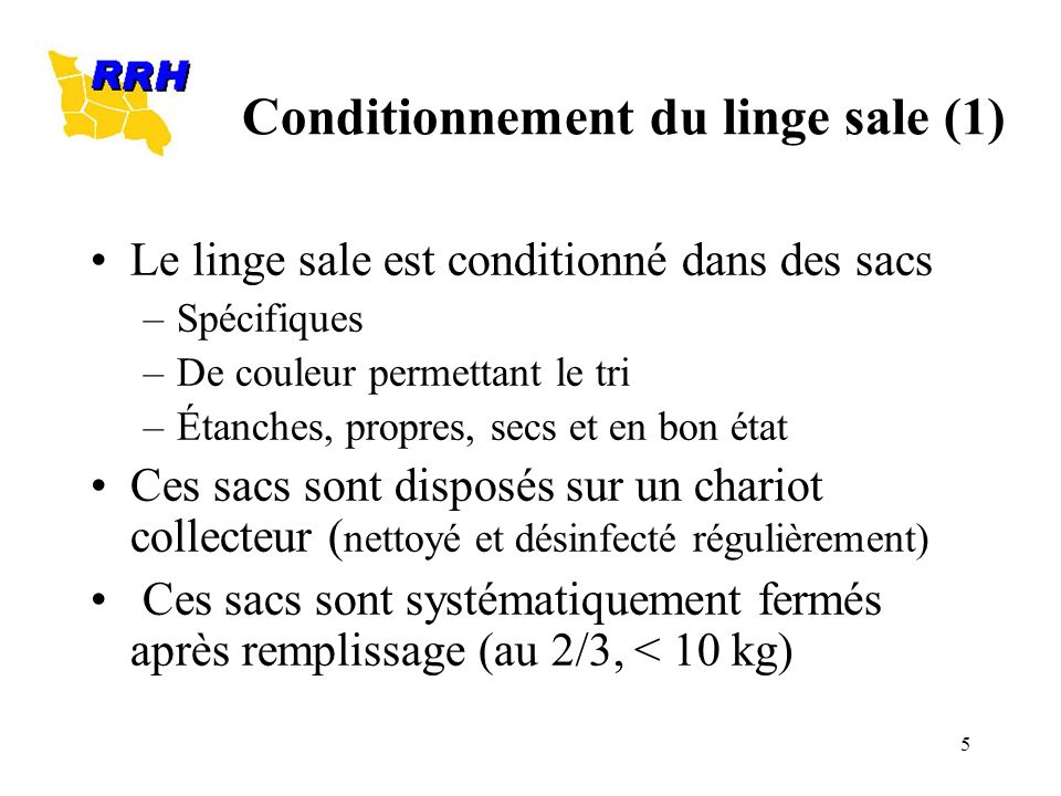 Conditionnement du linge sale (1)