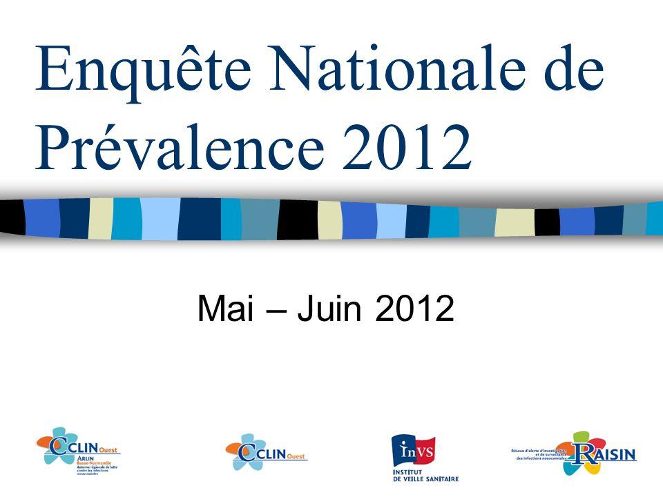 Enquête Nationale de Prévalence 2012